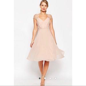Gorge ASOS Chiffon Kate Dress Aline Cap Sleeves